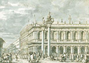 Canaletto, The Libreria and Molo, c.1735, Royal Collection