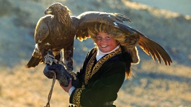 Aisholpan and her eagle