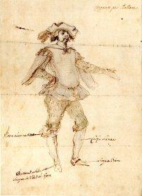 Stefano della Bella, Concept for costume design for a Gypsy for Il Pazzo per Forza, British Museum, London © The Trustees of the British Museum