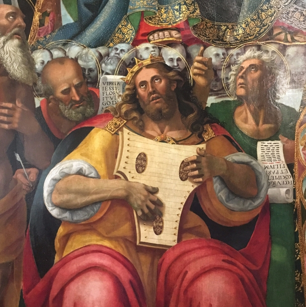 Luca Signorelli, Madonna and Child enthroned with Saints (detail of King David), Museo dell' Arte Medievale e Moderna, Arezzo