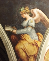 Giorgio Vasari, Allegorical figure representing History, fresco from the Room of Fame, Casa Vasari, Arezzo