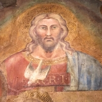 Spinello Aretino, The Trinity (detail of the Face of God), first decade of the 15th century, detached fresco, Museo dell'Arte Medievale e Moderna, Arezzo