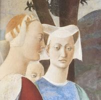 Piero della Francesca, Attendants of the Queen of Sheba, Bacci Chapel, San Francesco, Arezzo