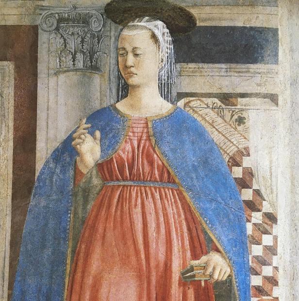 Piero della Francesca: The Annunciation, Bacci Chapel, San Francesco, Arezzo