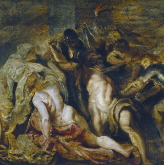Peter Paul Rubens, The Blinding of Samson (oil sketch), c.1610, Museo Thyssen-Bornemisza, Madrid (detail)