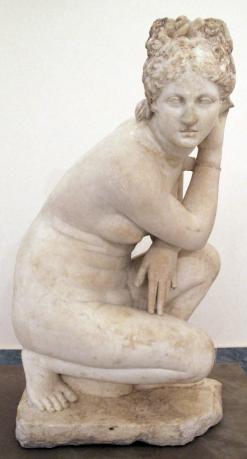 Crouching Venus, Roman, 1st century AD, Museo Archeologico Nazionale, Naples