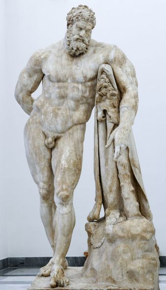 Farnese Hercules, Roman copy after a Hellenistic original, Museo Archeologico Nazionale, Naples