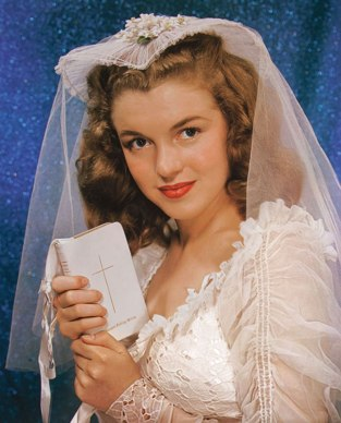 Norma Jeane Dougherty's wedding portrait, aged 16, photographed by Richard C Miller (1942)