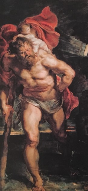 Peter Paul Rubens, St Christopher and the Hermit, c.1612, Alte Pinakothek, Munich (detail)