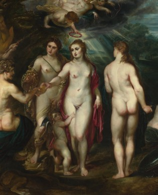 Peter Paul Rubens, The Judgement of Paris, before 1600, National Gallery, London (detail)