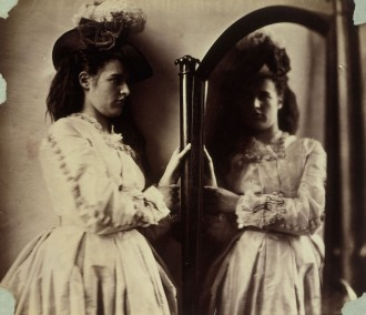 Lady Clementina Hawarden, Photographic Study, 5 Princes Gardens (Clementina Maude at the Mirror), 1863-64