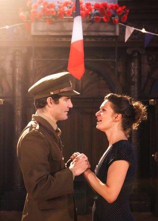 Peace restored: Benedick (Nicholas Osmond) and Beatrice (Chiraz Aich) make amends
