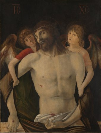 Giovanni Bellini, The Dead Christ with Angels, c.1465-70, National Gallery, London