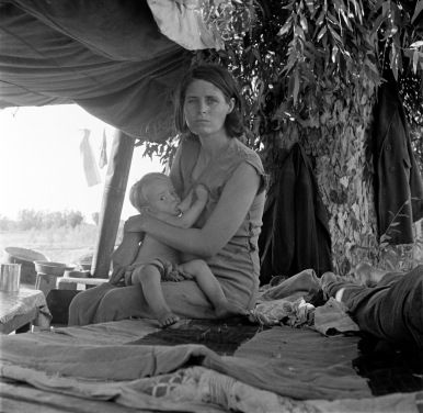 Dorothea Lange, Drought Refugees from Oklahoma, August 1936