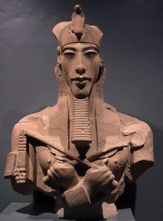 Fragmentary bust of Akhenaten. Unknown location.