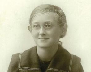 Jean as a schoolgirl