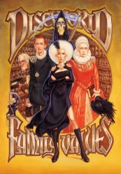 Paul Kidby, Discworld Family Values (from left, the Death of Rats, Albert, Mort, Susan, Death, Ysabel, the Raven)