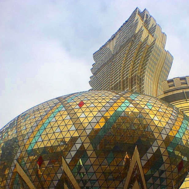 The Grand Lisboa from street level, Macau