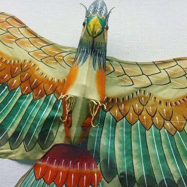 Kite in the form of a parrot, Macau Museum