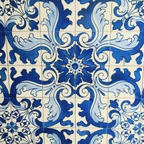 Portuguese tiles at Macau's city hall, the IAM Building
