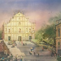 Lai Ieng, The Ruins of St Paul's, Macau, seen on view at Macau Museum of Art