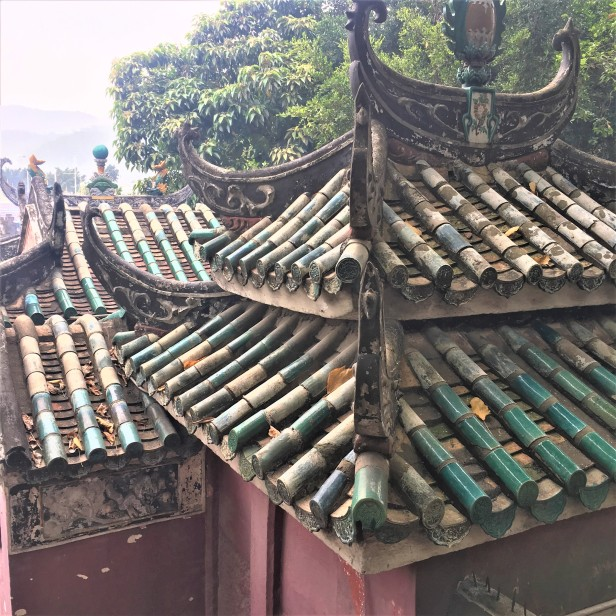 Tiled roofs at the A-Ma Temple, Macau
