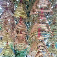 Wicker or bamboo incense cones at the A-Ma Temple, Macau