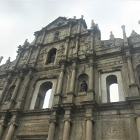 The ruined facade of St Paul's, Macau