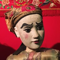 Cantonese theatrical puppet in the role of a 'poet warrior'
