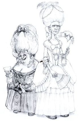 Nanny Ogg and Granny Weatherwax in disguise © Paul Kidby