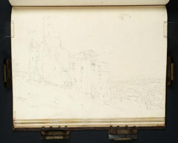 Turner: Harewood Castle from the South-East